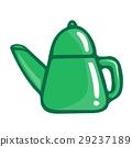 tea kettle isolated illustration 29237189