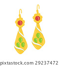 golden and gemstone earrings 29237472