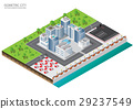 Isometric city plant elements of city metropolis. 29237549