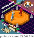 Virtual Fight Isometric Illustration 29242314