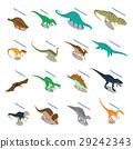 dinosaur, isometric, set 29242343