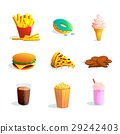 fastfood set cartoon 29242403