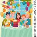 B-Day Party Children Composition 29242405