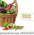 Healthy Vegetables In Basket 29242424
