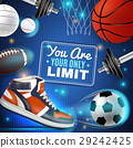 Colorful Poster With Sport Inventory 29242425