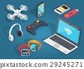 Set of Modern Wireless Technology in Cartoon Style 29245271