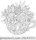 elephant, drawn, hand 29245531
