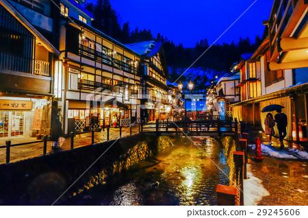 銀山溫泉夜景 29245606