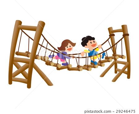 運動,複雜的遊樂場設備,公園,兒童站 29246475