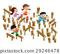 運動,複雜的遊樂場設備,公園,兒童站 29246478