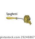 food, fork, spaghetti 29246867
