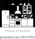 kitchen, interior, apartment 29247656