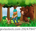 bear, chopping, lumberjack 29247947