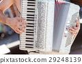 the man playing an accordion. 29248139