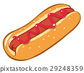 Hotdog with tomato sauce 29248359