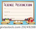 certificate, template, science 29249288