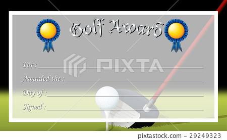 Certificate Template For Golf Award Stock Illustration 29249323