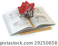 House project. Book with drafts of house 29250656