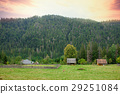 photo of cute little village near forest  29251084