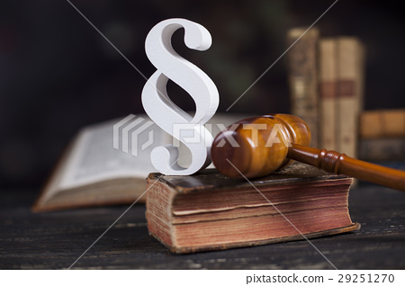 Mallet, Law, legal code and scales of justice  29251270
