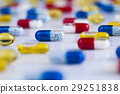 Composition with variety of drug pills background 29251838