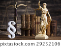 Statue of lady justice, Law concept and paragraph 29252106