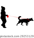dog vector people 29253129