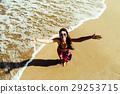 happy girl top view 29253715
