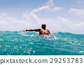 man swim on surf in the sea 29253783
