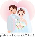 Marriage bride and groom heart 29254719