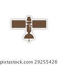 paper sticker on white background satellites  29255426
