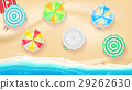 Set of colorful beach umbrellas on the background 29262630