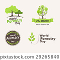Set of world forestry day. 21st march. vector. 29265840
