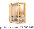 Sauna room isolated on white background 29265940