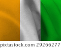 Cote d'ivoire flag 3D illustration symbol. 29266277
