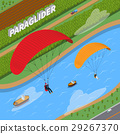 Paraglider Isometric Illustration 29267370