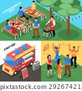 party, isometric, barbecue 29267421