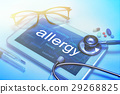 Allergy word on tablet screen  29268825