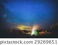 Camping under star sky 29269651