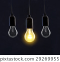 Light bulb lamps on black background 29269955