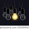 Light bulb lamps on black background 29269956