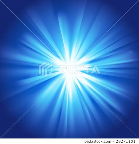 Glowing light blue burst 29271101