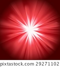 Glowing light red burst 29271102