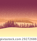 Winter coniferous forest in the morning. 29272686