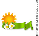 Happy Summer Background with Chamomiles Flowers 29272950