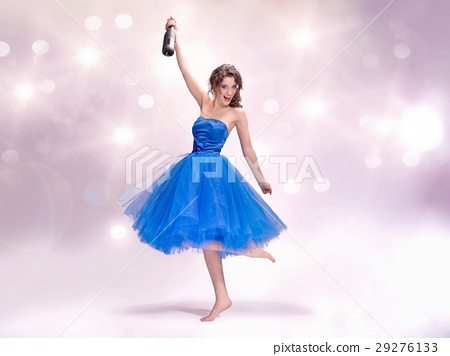 Portrait of a cheerful lady at the party 29276133