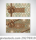 Set of cards in oriental style 29276919