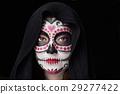 halloween skull makeup 29277422