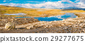 Norway Nature Mountain Landscape. Panoramic View 29277675