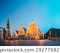 Riga Latvia. Scenic Panoramic View Of Town Hall 29277682